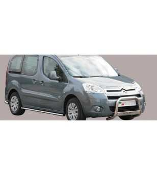 Berlingo 08- Medium Bar ø63 Inscripted EU - EC/MED/K/230/IX - Bullbar / Lightbar / Bumperbar - Unspecified