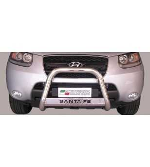Santa Fe 06-10 Medium Bar ø63 Inscripted EU - EC/MED/K/176/IX - Bullbar / Lightbar / Bumperbar - Verstralershop