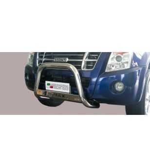D-Max 08-12 Medium Bar ø63 Inscripted EU - EC/MED/K/197/IX - Bullbar / Lightbar / Bumperbar - Unspecified