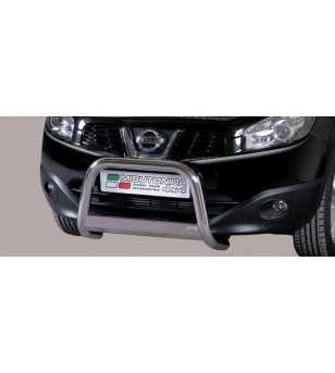 Qashqai 10- Medium Bar ø63 Inscripted EU - EC/MED/K/265/IX - Bullbar / Lightbar / Bumperbar - Unspecified