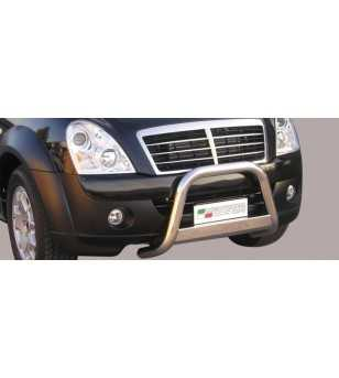 Rexton II 07- Medium Bar ø63 Inscripted EU - EC/MED/K/189/IX - Bullbar / Lightbar / Bumperbar - Verstralershop