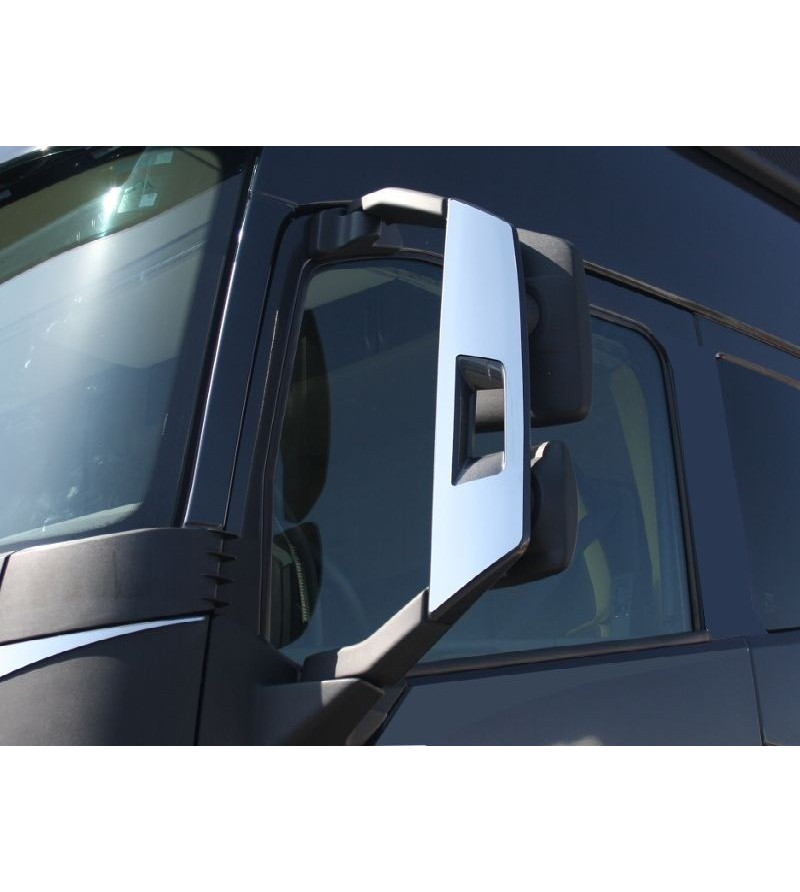 Volvo FH 2013- mirror covers stainless - 006VFH2013 - Stainless / Chrome accessories - Acitoinox - Italian series - Verstralersh