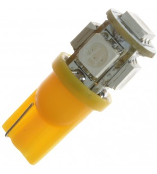 W5W Bulb LED 12V 5 LED Yellow/Orange - 321053  - Lighting - Verstralershop