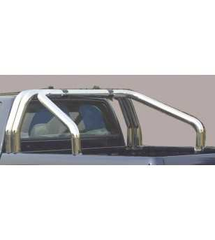 L200 06-09 Double Cab Roll Bar on Tonneau - 3 pipes
