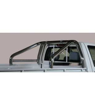 D-Max 03-07 Roll Bar on Tonneau Inscripted - 2 pipes
