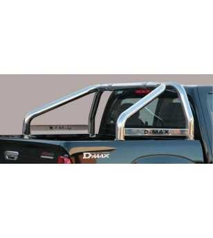D-Max 08-12 Roll Bar on Tonneau Inscripted - 2 pipes