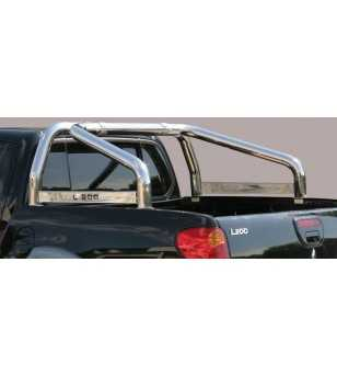 L200 06-09 Double Cab Roll Bar on Tonneau Inscripted - 2 pipes