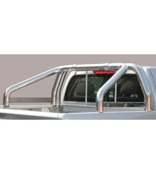 Navara 06-09 Roll Bar on Tonneau Inscripted - 2 pipes - RLSS/K/2167/IX - Rollbars / Sportsbars - Unspecified
