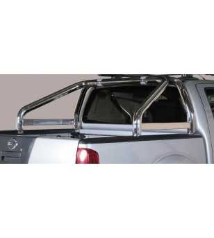 Navara 10- Double Cab Roll Bar on Tonneau Inscripted - 2 pipes