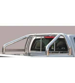 Amarok 11- Roll Bar on Tonneau Inscripted - 2 pipes
