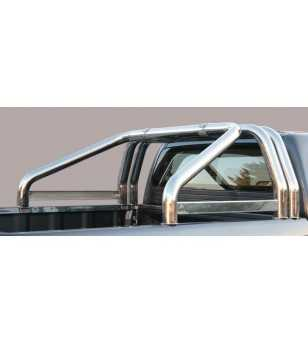 L200 06-09 Double Cab Roll Bar on Tonneau Inscripted - 3 pipes