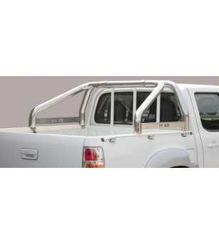 BT50 09-12 Roll Bar on Tonneau Inscripted - 2 pipes