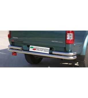 D-Max 03-07 Double Rear Protection - 2pp/142/IX - Rearbar / Opstap - Unspecified