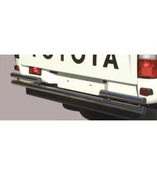 Hilux 01-05 Double Rear Protection - 2PP/129/IX - Rearbar / Opstap - Verstralershop