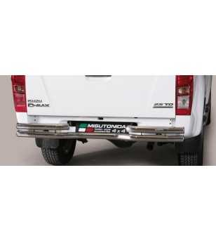 D-Max 12- Double Bended Rear Protection - DBR/314/IX - Rearbar / Opstap - Unspecified
