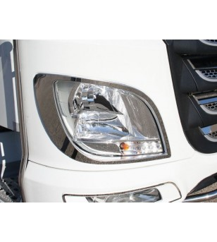 DAF XF 105 euro 5 - 6 Chrome rvs rand voor voorlamp (set) - 010D XF E6 2013 - RVS / Chrome accessoires - Unspecified