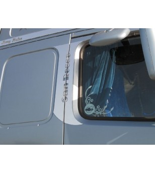 Volvo FH Door Frame Kit - Customizable - 046V - Stainless / Chrome accessories - Acitoinox - Italian series