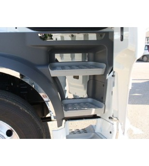 DAF XF 105 euro 5 - 6 cover steps (8 pcs) - 019D XF E6 2013 - RVS / Chrome accessoires - Unspecified