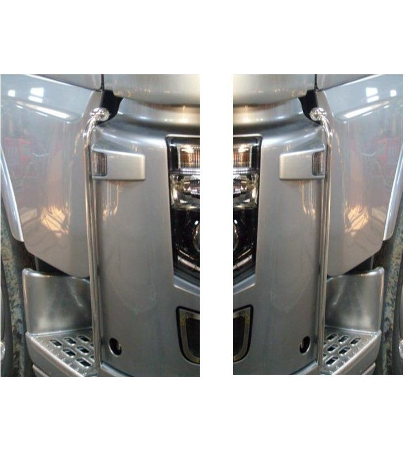 Volvo FH Pair Of Side Auction - 028V - Stainless / Chrome accessories - Acitoinox - Italian series - Verstralershop