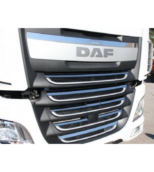 DAF XF 105 Euro 5 - 6 Grille Linings - 006D XF E6 2013 - RVS / Chrome accessoires - Unspecified