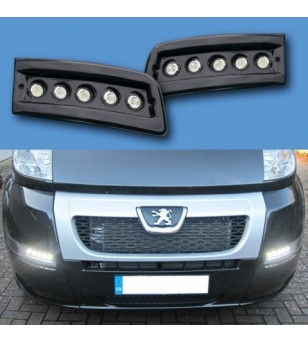 Citroën Jumper 2007- Day Time Running Light Kit POD Black (unpainted) - LP-X250B - Lighting - Verstralershop
