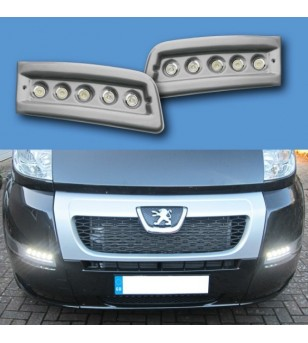 Citroën Jumper 2007- Day Time Running Light Kit POD Black (unpainted) - LP-X250B - Lighting - Unspecified - Verstralershop