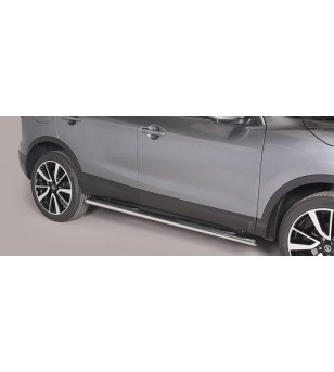 Qashqai, Oval Side Bars with steps - GPO/363/IX - Sidebar / Sidestep - Unspecified