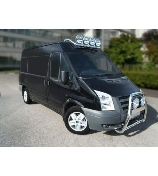 Ford Transit 2001- H2 Roofbar Stainless - RB-BRAGFT01H2 - Roofbar / Roofrails - Unspecified