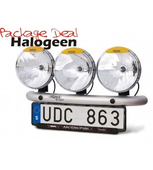 QPAX 3 Lights Halogen (excl lights)