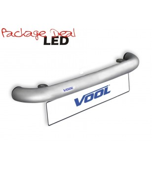 Voolbar-Alu 2 Lights LED (excl lights)