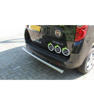 Doblò Cargo 2010-, Rearbar brushed stainless - 030.06.01C.001 - Rearbar / Rearstep - Unspecified