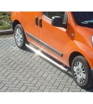 Fiorino 2008- WB 2512, Sidebar geborsteld set RVS - 020.06.04A.001.03 - Sidebar / Sidestep - Unspecified