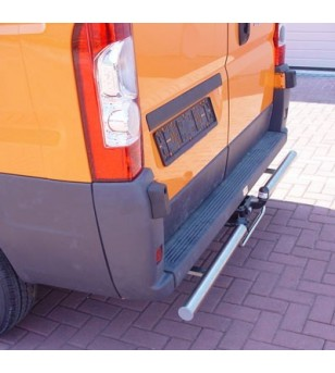 Ducato 2006- L1/L2/L3/L4 H1/H2/H3, Rearbar brushed towbar implementation stainless