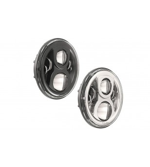 JW Speaker 8700 Evolution-2 chrome LED koplamp