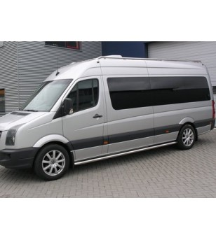 Sprinter 2006- L2 H1/H2/H3, sidebar set stainless - 020.15.03B.005.03 - Sidebar / Sidestep - Unspecified