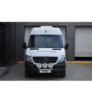 Mercedes Sprinter 2014+ Vool Lightbar 3 lights Stainless - V43-020/3 - Bullbar / Lightbar / Bumperbar - Unspecified - Verstraler