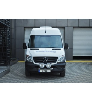 Mercedes Sprinter 2014+ Vool Lightbar 2 lights Stainless - V43-020/2 - Bullbar / Lightbar / Bumperbar - Unspecified - Verstraler