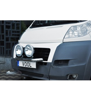 Fiat Ducato 2007-2014 Vool Lightbar 2 lights Stainless - V417-025/2 - Bullbar / Lightbar / Bumperbar - Unspecified - Verstralers