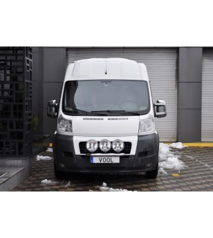 Fiat Ducato 2007-2014 Vool Lightbar 3 lights Stainless - V417-025/3 - Bullbar / Lightbar / Bumperbar - Unspecified - Verstralers