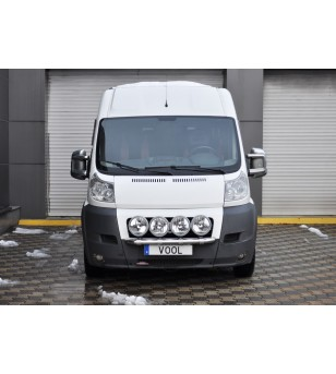 Fiat Ducato 2007-2014 Vool Lightbar 4 lights Stainless - V417-024 - Bullbar / Lightbar / Bumperbar - Unspecified - Verstralersho