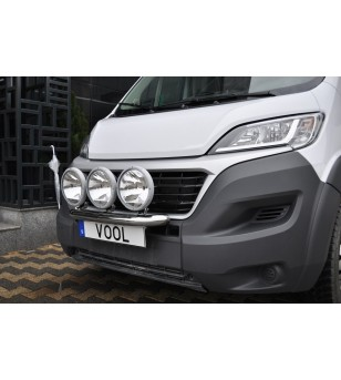 Fiat Ducato 2014+ Vool Lightbar 3 lights Stainless