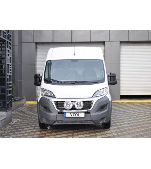 Fiat Ducato 2014+ Vool Lightbar 3 lights Stainless - V417-022/3 - Bullbar / Lightbar / Bumperbar - Unspecified - Verstralershop