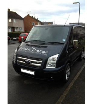 FORD TRANSIT 2007+ Front Grill 2 pcs. S.Steel