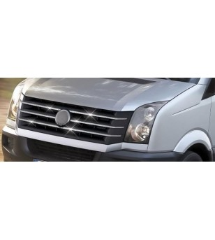 VW CRAFTER 2012+ Front Grill 6 St. rvs hoogglans  - 3540400086 - RVS / Chrome accessoires - Unspecified