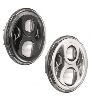 JW Speaker 8700 Evolution-2 black LED koplamp met DRL