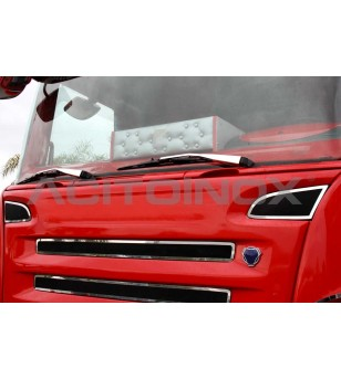 Windscreen wiper cover | Scania L, R, New R, Streamline - 087S - Stainless / Chrome accessories - Acitoinox - Italian series - V