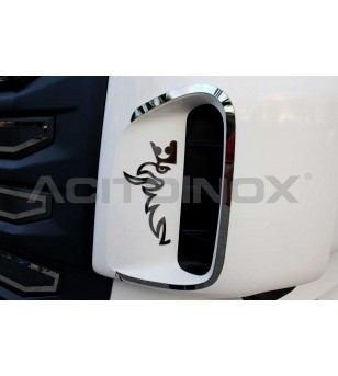Scania L - SUPER MIRROR STAINLESS STEEL GRIFFIN - 011S - RVS / Chrome accessoires - Acitoinox - Italian series