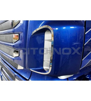 Scania R new R AIR INTAKE SURROUND - 010S - Stainless / Chrome accessories - Acitoinox - Italian series