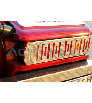 Scania L - STOP LIGHT COVER - 026S3 - Stainless / Chrome accessories - Acitoinox - Italian series - Verstralershop