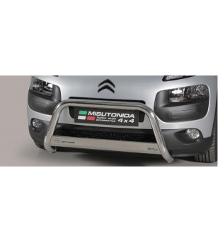 Citroën C4 Cactus 2015 EC Approved Medium Bar ø63 stainless steel - EC/MED/378/IX - Bullbar / Lightbar / Bumperbar - Verstralers